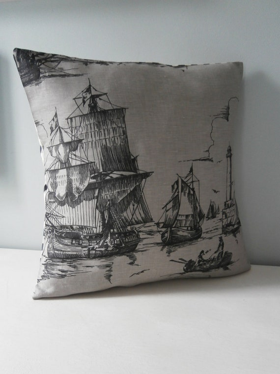 Ship Lighthouse Nautical pillow / cushion cover