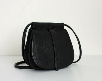 Black Leather Purse Cross body
