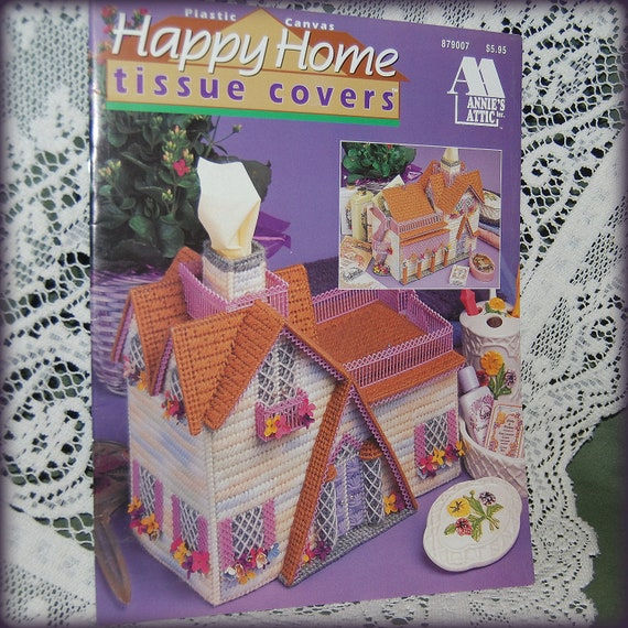 Plastic Canvas Book Cover Patterns ~ Happy home tissue covers plastic canvas by seastarscreations