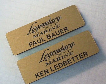 "Name Tag, Logo & Name with Magnet Back 1"" x 3"""