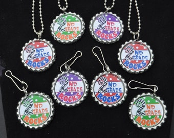 4 second grade bottlecap necklace or zipper pull diy kits for 3rd grade christmas craft ideas