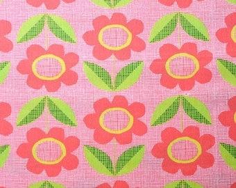 Monaluna Organic Fabrics Havana Collection One Yard Blooms in Red
