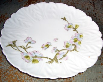 Vintage Plate, Pink, Blossoms, Carlsbad China, Austria, Pink, Floral