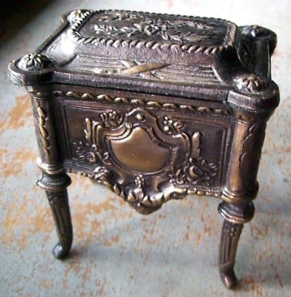 Brass Jewelry Box, Ornate Brass Box