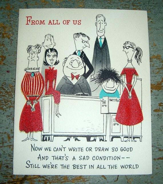 vintage cards birthday from all of us hallmark unused, Greeting card