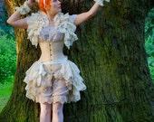 Opulent Victoriana Steampunk Bustle MIRROR OF VENUS Bridal Silk Tie On Bustle Skirt Lolita Victorian By Ophelias Folly