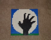 Zombie Hand Halloween LEGO Mosaic
