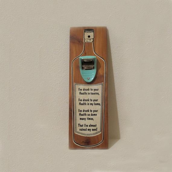 Vintage bottle opener  / Irish toast / Irish saying / Birthday gift
