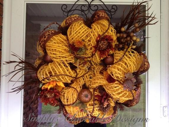 Stunning Fall/Autumn Wreath