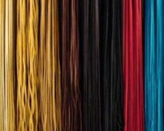 Deerskin Leather Lace  5/16 inch wide x 6 ft long  Choice of 9 colors