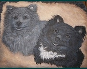 Custom Painted Pet Portrait in Acrylics on Slate, Part of Sales Proceeds Supports Animal Charity