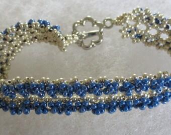 Beautiful delicate  beadweaved bracelet