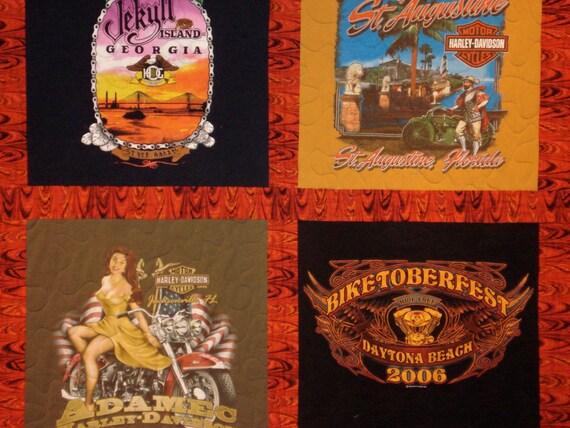 Custom Harley Davidson T-Shirt Quilt