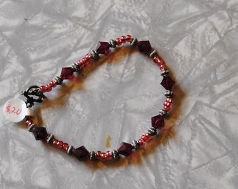 Ruby and pink bracelet