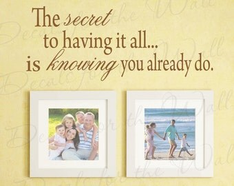 The Secret having All Knowing You Already Do Love Home Family Wall Decal Adhesive Vinyl Lettering Decoration Quote Sticker Art Decor F64