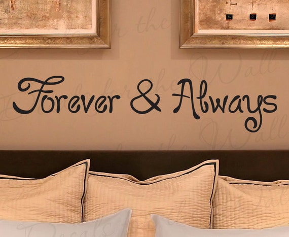 Forever and Always Love Bedroom Family Marriage Wedding Quote Sticker Graphic Decoration Art Decor Vinyl Large Wall Lettering Decal L06