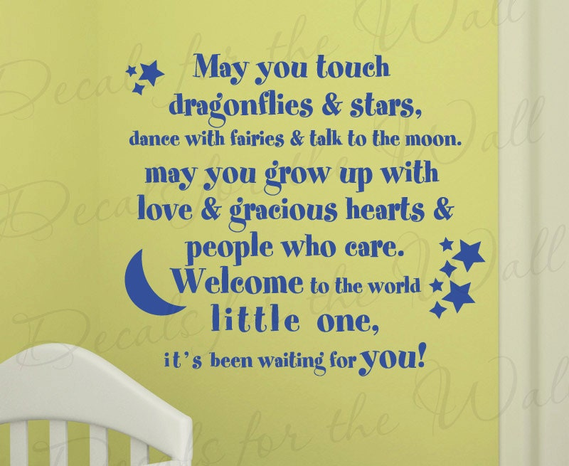 May You Touch Dragonflies And Stars Dance Girl Room Kid Baby