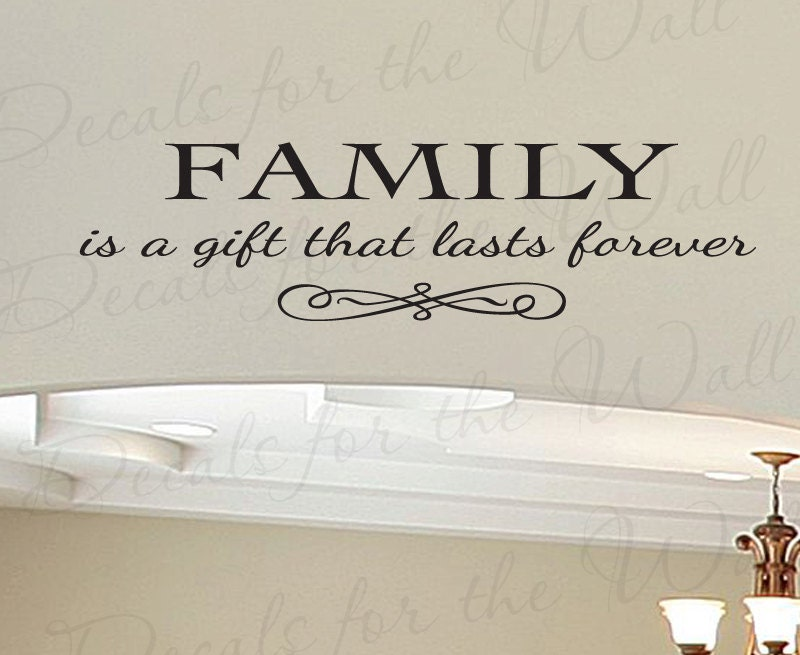 Vinyl Wall Art Love Quotes : Family a gift lasts forever love home large wall decal vinyl