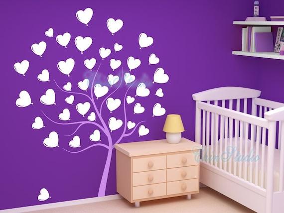 Heart Tree Decal-Vinyl Wall Decal, Sticker, Wall Mural, Nursery Kids room