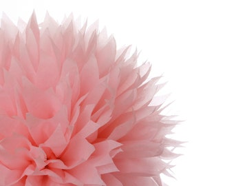1 Large Tissue Paper Pom Poms Light Pink