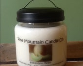 18 oz Honeydew Melon soy candle, hand poured, 100% Soy wax,