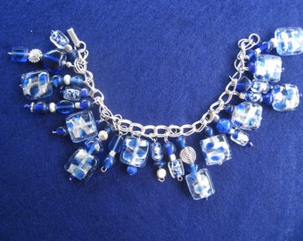 Hand made glass bead bracelet