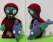 Crochet Dolphin-Rider Zombie Amigurumi- Finish Doll
