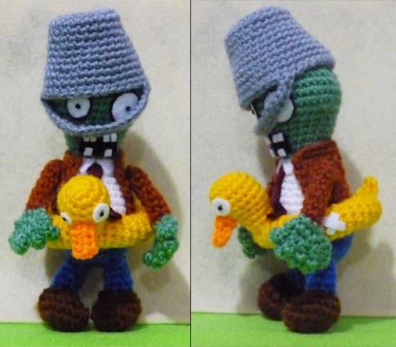 Crochet Ducky Tube Buckethead Zombie Amigurumi  Finish Doll