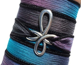 Cross Silk Wrap Bracelet Bohemian Spiritual Yoga Jewelry Necklace Christmas Stocking Stuffer Unique Gift For Her Under 50 Item P43