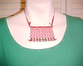 Anybody named GIGI ready for shipping Pink necklace Breast Cancer Awareness sparkling beads Handmade by Tween stunning crystals