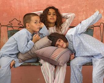 Blue striped Boys pajamas - Cotton blue pyjamas