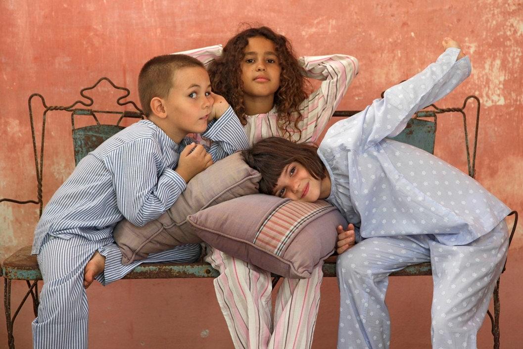 Blue striped Boys pajamas Cotton blue pyjamas