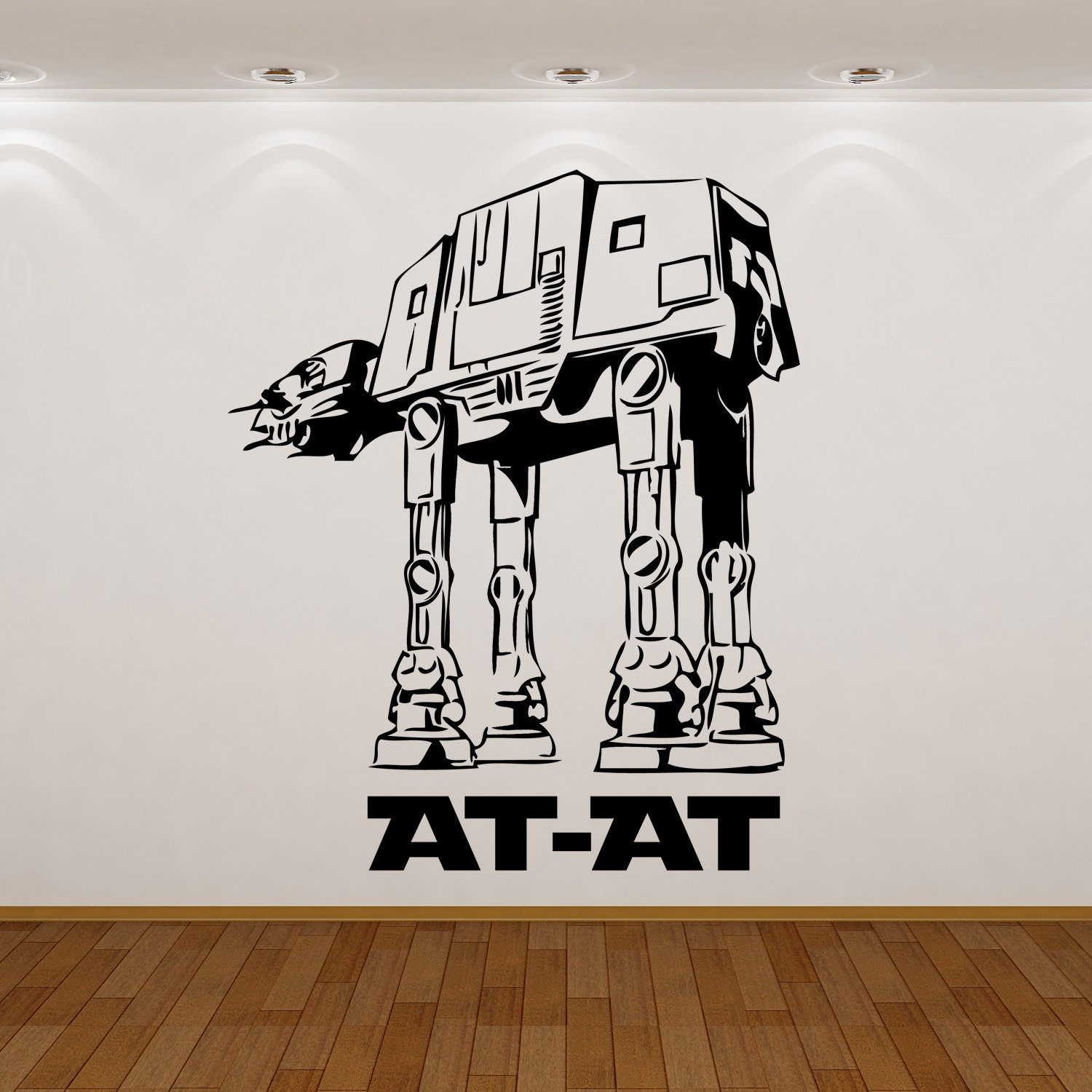 items similar to wars at at wall sticker decal vinyl for kid s or children bedroom