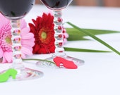 Lady Shoe High Heel Wine Glass Charms Polymer Clay Accessories Set of 6