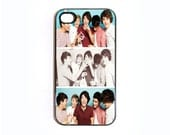 Apple iPhone 4 4G 4S 3D Case Skin Cover Cute Retro Vintage One Direction Boy Band 1D Available in Black or White Hard Case.