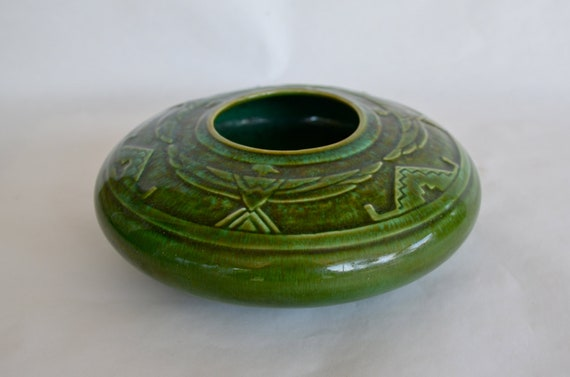 Reserved for zazaboo Vallona Starr Pottery Native American Design Bowl  c.1930-50