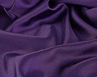 1 yard Dark Purple Satin Fabric / 1 yard x 60 in. / Dark Purple
