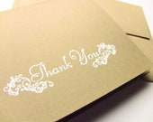 5 Wedding Thank You Cards, Bridal Thank You Cards, Baby Thank You Cards, Customize Any Color