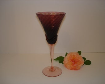 """Vintage Mikasa, """"Blossom Plum"""" Wine Glasses, Set of 8.  Never Used, Perfect Condition."""