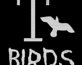 """INSTANT DOWNLOAD - Grease movie T-Birds """"T Birds"""" Machine Embroidery Design"""