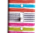 Malibu Stripes Single Toggle Switchplate, switch plate