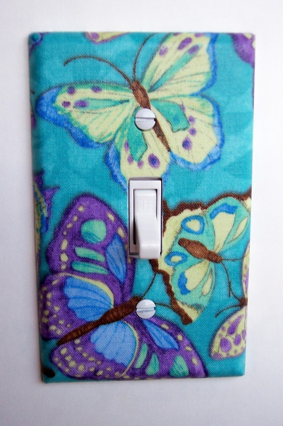 Cool Butterflies Single Toggle Switchplate