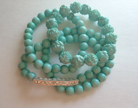 Bead and Sideways Bar Bracelet Set of 4