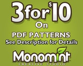 3 for 10 Dollars Bead Pattern PDF Package