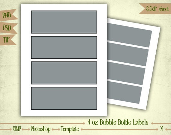 bubble bottle label template 4 oz bubble bottle labels digital collage sheet layered