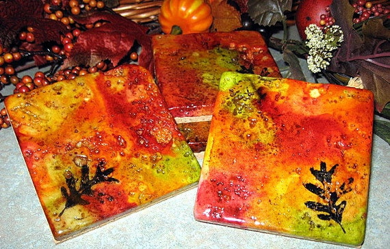Fall Leaf Coasters Set of 4
