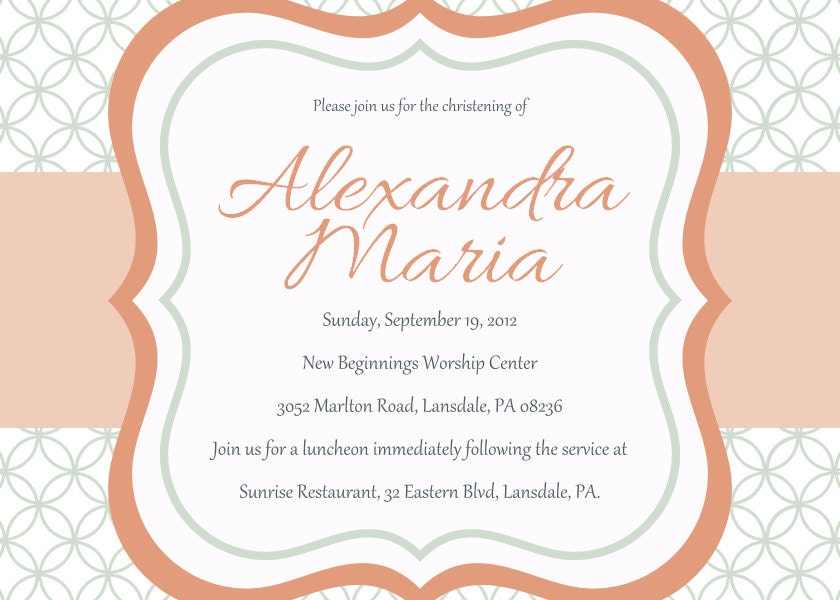 Baptism Invitations For Girls with beautiful invitations template