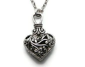 Caroline's Heart Necklace, Pendant, Vervain Necklace, Heart Pendant, Vampire
