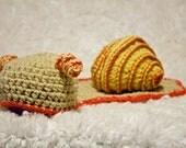 Photo Prop - Snail - Baby Hat / Cape - Size Newborn - 3 months
