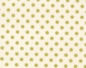 Polka Dot Hanki in Leaf from Odds and Ends by Julie Comstock for Moda